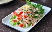 青红椒拌虾皮的做法