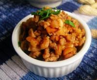 花生肉末炒萝卜干的做法