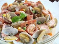 蛤蜊鲜虾奶油烧的做法