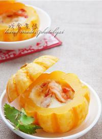 鲜虾蛋羹桔瓜盅的做法