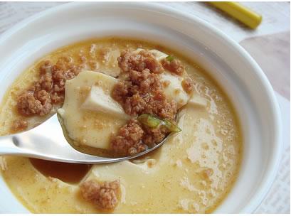 肉末豆腐蒸蛋羹的做法