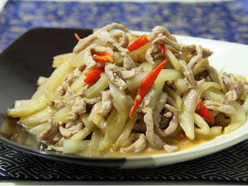 白菜丝炒肉的做法图文步骤