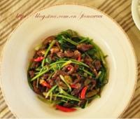 野山椒炒牛肉的做法