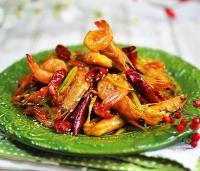 麻辣酥香陈皮虾的做法