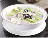针菇豆腐肉片汤的做法