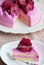 红心红龙果慕斯蛋糕的做法图文步骤