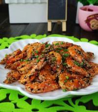 海苔香酥虾的做法