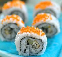 红蟹籽鳗鱼寿司里卷的做法