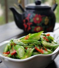 清炒蛇豇豆的做法