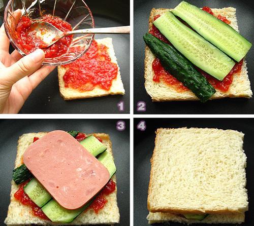 火腿三明治的做法图文步骤