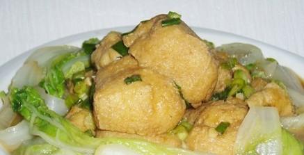 芝麻酱拌白菜豆腐的做法