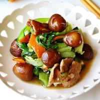 油菜炒香菇的做法