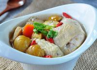 板栗参鸡汤的做法