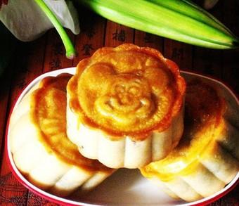 玫瑰月饼的做法