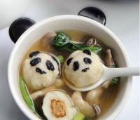 可爱熊猫包心鱼丸的做法