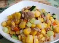 学生早餐——金枪鱼玉米沙拉的做法