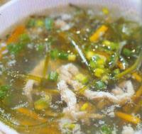 肉丝海带汤的做法