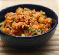泡菜土豆什锦炒饭的做法