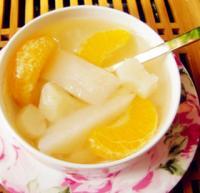 马蹄香梨橘子水的做法