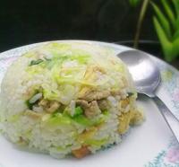 包菜虾仁蛋炒饭的做法
