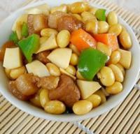黄豆蛋白肉的做法