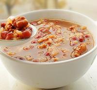 考生食谱:核桃红豆粥的做法