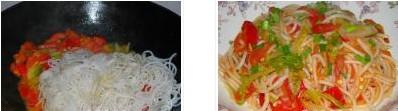 泡椒白菜炒米线的做法图文步骤