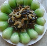 海米香菇扒油菜的做法