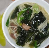 油菜银丝面汤的做法