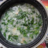 芥菜咸蛋粥的做法