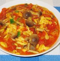 姬菇西红柿炒鸡蛋的做法