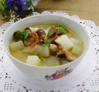 淡菜萝卜瘦肉汤的做法