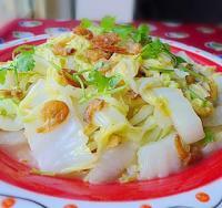 虾米炒大白菜的做法