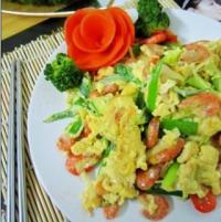 虾米炒鸡蛋的做法