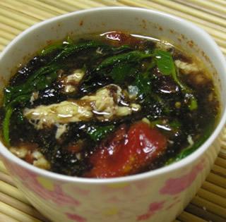 蕃茄紫菜蛋汤的做法