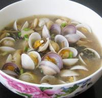 白蛤盐基豆瓣汤的做法