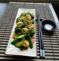 虾仁炒芦笋的做法