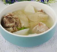 竹荪山药排骨汤的做法