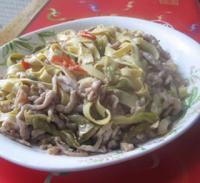 榨菜肉丝炒豆皮的做法