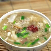 东星斑鱼茸粥的做法