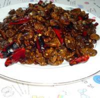 辣椒炒蚕蛹的做法