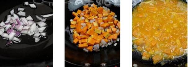 咸蛋南瓜酱焗饭的做法图文步骤