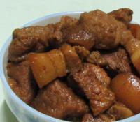 油豆腐煮肉的做法