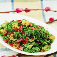 海米拌荠菜的做法