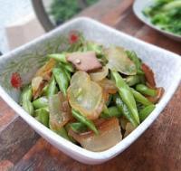 四季豆炒腊肉的做法
