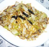 酸辣圆白菜的做法