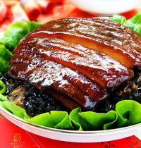 蒸蒸日上—梅干菜扣肉的做法