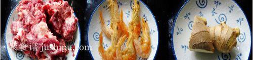 营养滋润的白萝卜虾干排骨汤的做法 jushipu.com