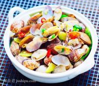 彩椒花蛤的做法