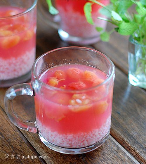 酒酿樱桃的做法 jushipu.com
